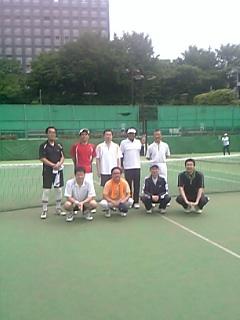 東西棋士のテニス対抗戦
