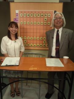 東京の将棋会館の地下は昨年から「銀河戦」などの番組の収録スタジオ