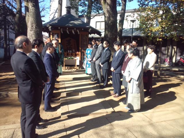 1月6日に行われた恒例の「将棋堂祈願祭」と「指し初め式」