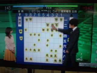 第3回電王戦第1局(<br />  菅井五段―『習甦』)<br />  はプロ棋士が将棋ソフトにまたも黒星