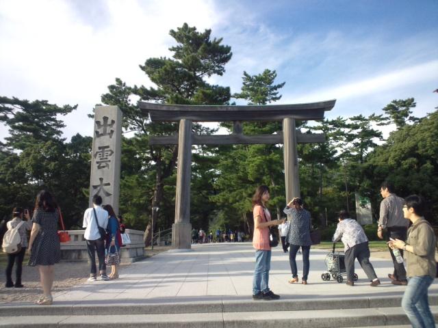高校生大会での審判と指導で訪れた島根県・出雲市で出雲大社を観光